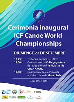 inaugurar el Campionat del Món de Piragüisme